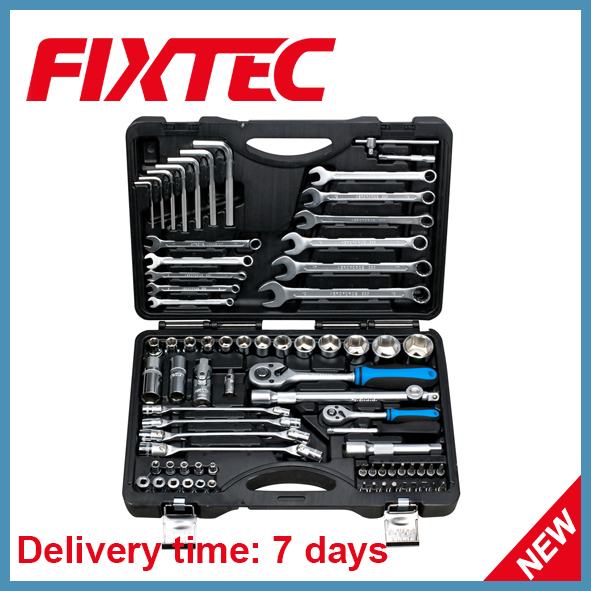 Fixtec cheap professional 76 pcs socket tool set Car Repair hand tool kit