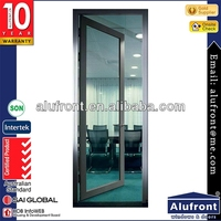 Double glazed glass door/aluminum windows and door grills design with inside blinds