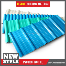 top grade fire retardant pvc corrugated plastic roof tiles