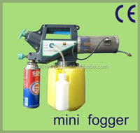 ISO, CE certification Top sale to india China mosquito butane gas mini misting fog machine with butane gas for power