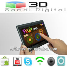 tablets android 4 10 cheapest colorful q88 7 inch tablet pc Allwinner A13 Android4.0 RAM 512mb flash 4GB capacitive mini laptop