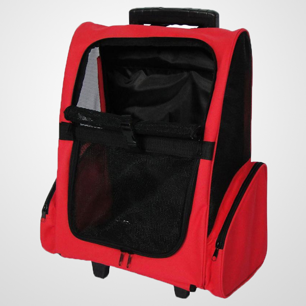 Pet trolley backpack with extending handle for strolling