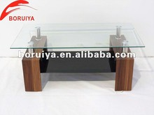 modern wooden center table with glass top with low price