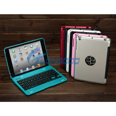 360 Degree Rotating Wake Sleep Function Wireless Bluetooth Keyboard Hard Case For iPad Mini