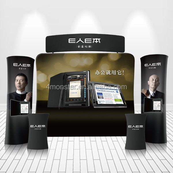Custom design trade show exhibition booth 3 x 6 pop display stand