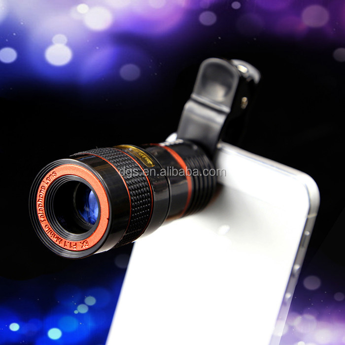 Best selling for 8X Zoom Clip Phone Camera Lens Kit Manual Focus Telescope Lens for mobile phone
