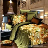 3D Digital Printing Bed Sheet Set - 400 Thread Count - 100% Egyptian Cotton Bed Set