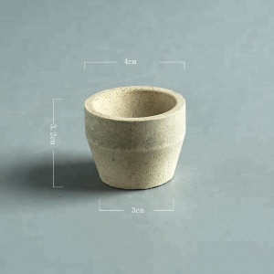 Fire assay crucible cupel for gold melting ceramics Fire clay cupel