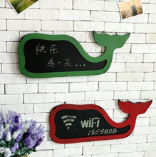 Whale Model Chalkboard Blackboard Hanging Home SignHome Door Gate Wall