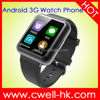 Smart Q1 MTK6580 Quad Core 1GB/8GB WiFi GPS 3G mobile watch phone with video call support Heart Rate Monitor