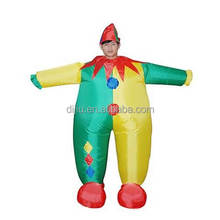 DJ-CO-199 Blowing clown costume inflatable clown professional clown costumes
