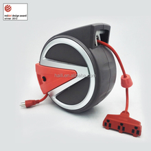 50ft ETL wall mounting auto retractable industrial electric cable reel 250