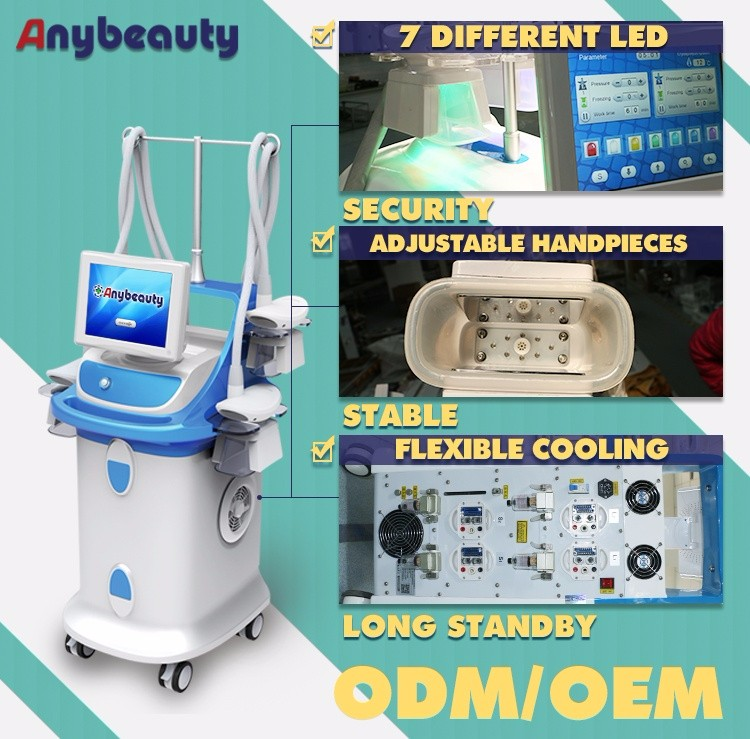 Vertical 4 cryo handles cryolipolysis body slimming equipment cryolipolysis fat freezing machine