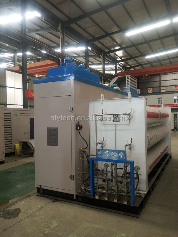 SIEMENS PLC Skid Mounted Natural Gas Compressor For Daughter Filling Station