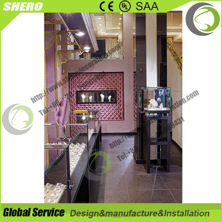 SO free standing glass jewelery display showcase tower