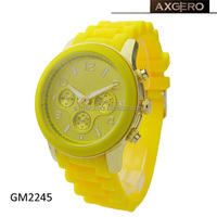 2014 new geneva silicone jelly watch