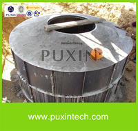 PUXIN 10m3 biogas plant system for household waste management