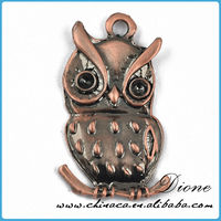 hot sale,fashion OWL metal charm for personalized Jewelry marking,Jewelry pendant in EUROPEAN quality