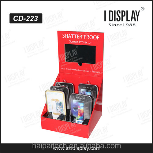 POP countertop cardboard display with 7'' LCD Video Player