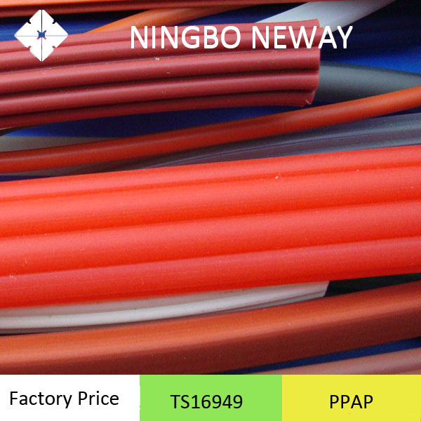 Molded custom silicone extruded rubber thread