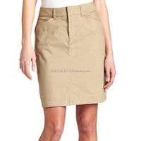 Ladies Office New Designs Cream Jean Skirt Straight Fit Mini Tight Formal Business Wear Girls Denim Skirt