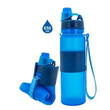 New 500ml/16oz Collapsible <strong>Sports</strong> Drinking Silicone Water Bottle Foldable