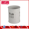 White Painting Cookware Cutlery Utensil Holder