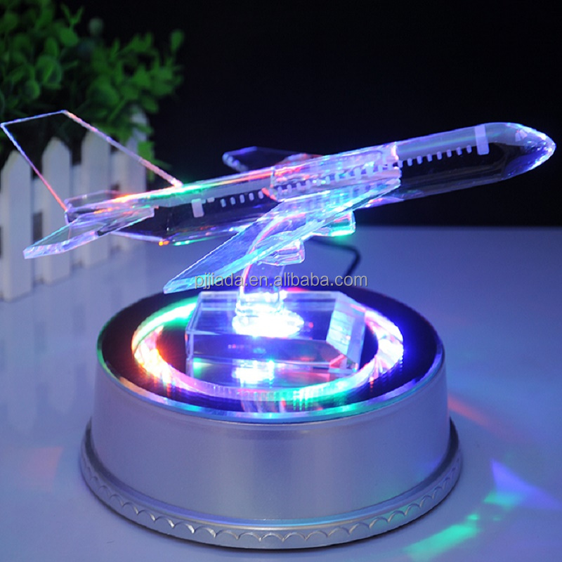 K9 glass crystal aircraft model 3d engraving birthday souvenir business gifts crystal airplane model