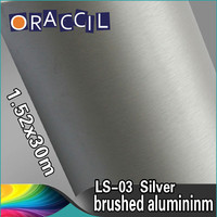 Good Quality 1.52x30m Sticker Decoration Brushed Metal Vinyl Car Wrap