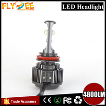 2016 newest luces led para coche V16 turbo Automotive led CREEs XHP-50 car headlight H3 H4 H7 9005 9006 H8 H9 H11 40w 4800lumen