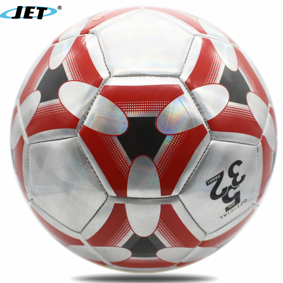 Colorful Glossy Shiny PVC Leather Football Futbol Soccer Ball