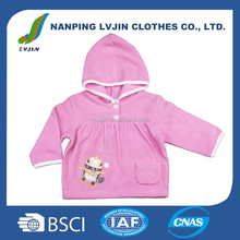 Lovely hooded baby coat brand kids girls autumn outwear with hoodies wholesale