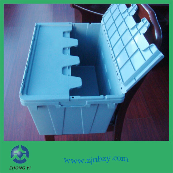 ZYW-6040/33(50) Large Plastic Crate with Lid for Storage