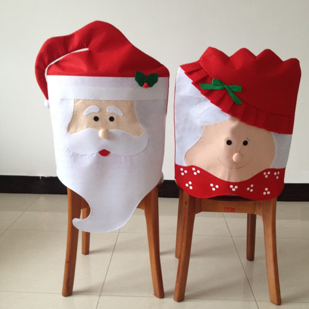 1pair Lovely Mr  amp  Mrs Santa Claus Christmas  strong Dining  strong. Wholesale dining chair back covers   Online Buy Best dining chair