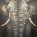 India abstract elephant oil painting