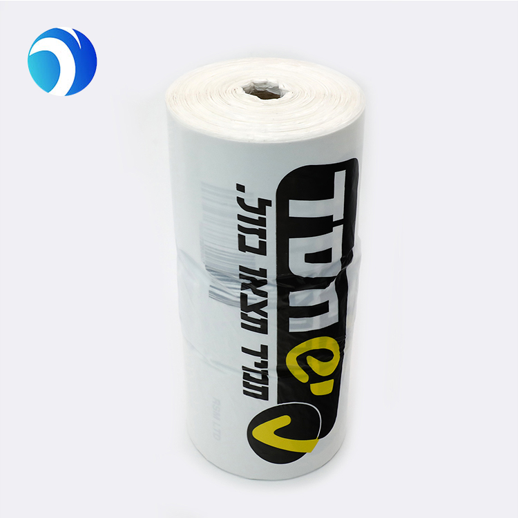 Plastic Bags Rolls- Custom printing HDPE Produce grocery T-Shirt Bag on roll customize shopping bags