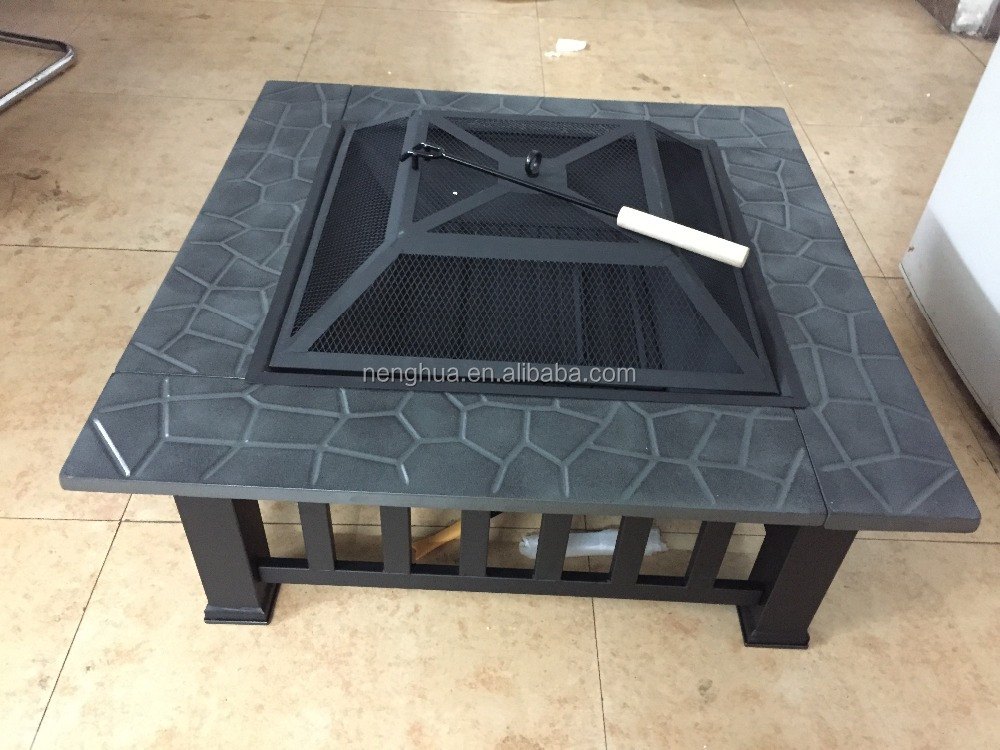 outdoor fire pit table, metal fire pit mesh, fire pit lid