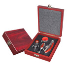 Ideal Gift Rosewood Handle Waiters Corkscrew Wine Accessory Set With Wooden Box
