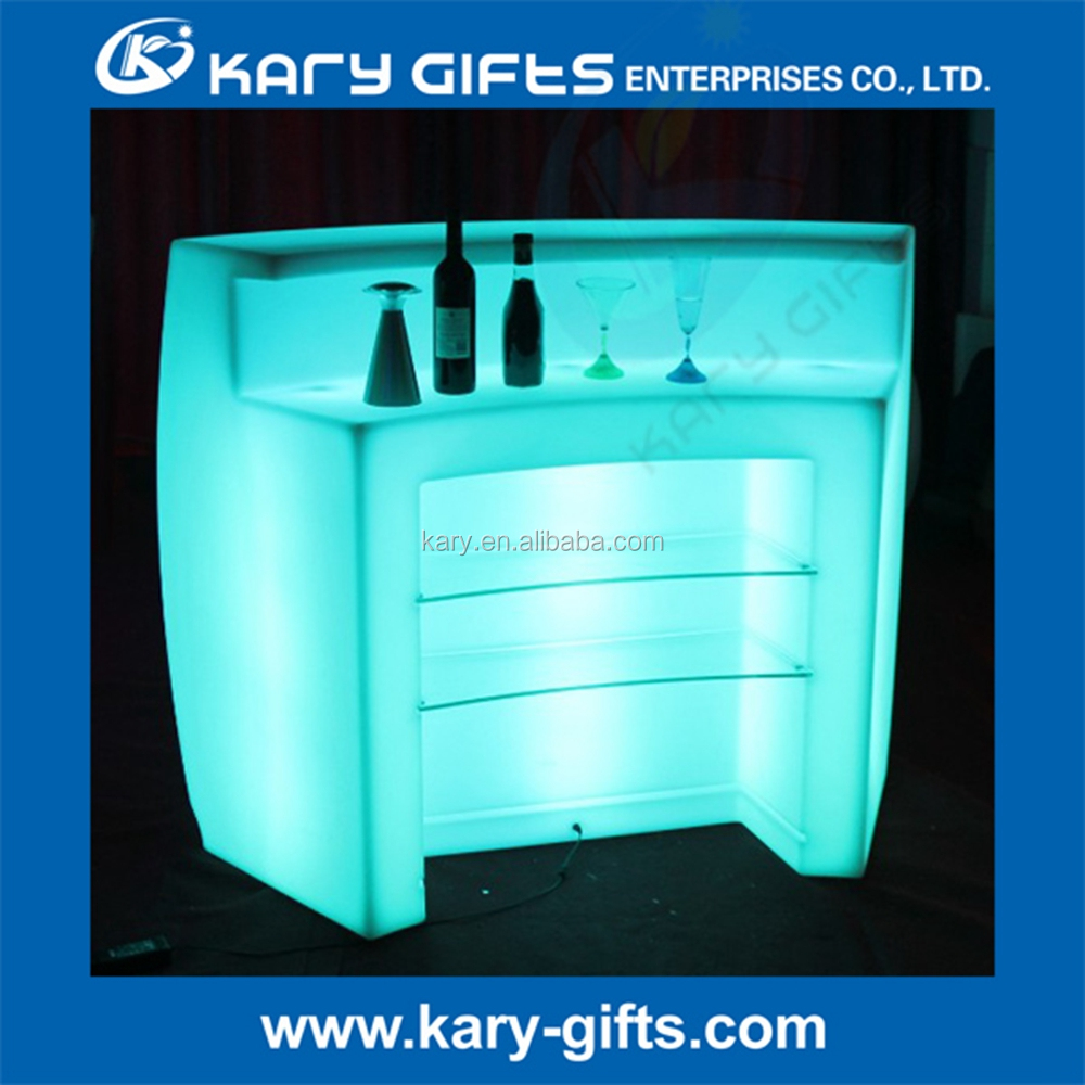 RGB Color Changing Remote Control Plastic Furniture Light Up Bar Counter
