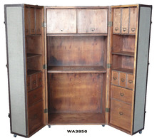 Large Wardrobe Steamer Trunk