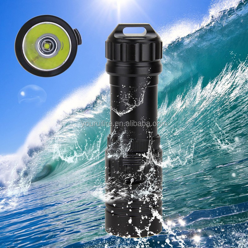 Wholesale COURUI QS-28 Under water XM-L2 LED Scuba Diving <strong>Flashlight</strong> Torch Light