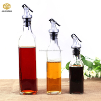 Oil Vinegar Cruet Glass Bottle with Pourer Spout