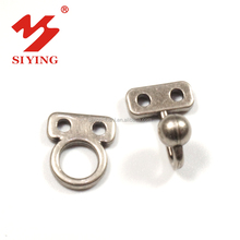 Custom metal hook and eye,and bar or clasp closure buttons for trousers