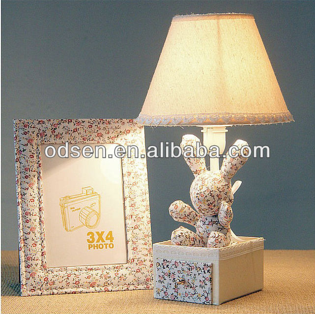 rabbit table lamps with animals