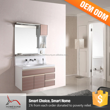 Cabinets Teak Slim Apartment Bathroom Vanity