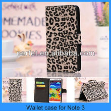 Leopard Flip Leather Stand Set Cover Wallet Case For Note 3 Samsung Galaxy Note III N9000(PT-SN3L207)