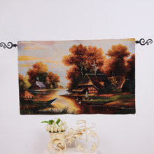 PLUS Tapestry fabric painting wall hanging customized home decor