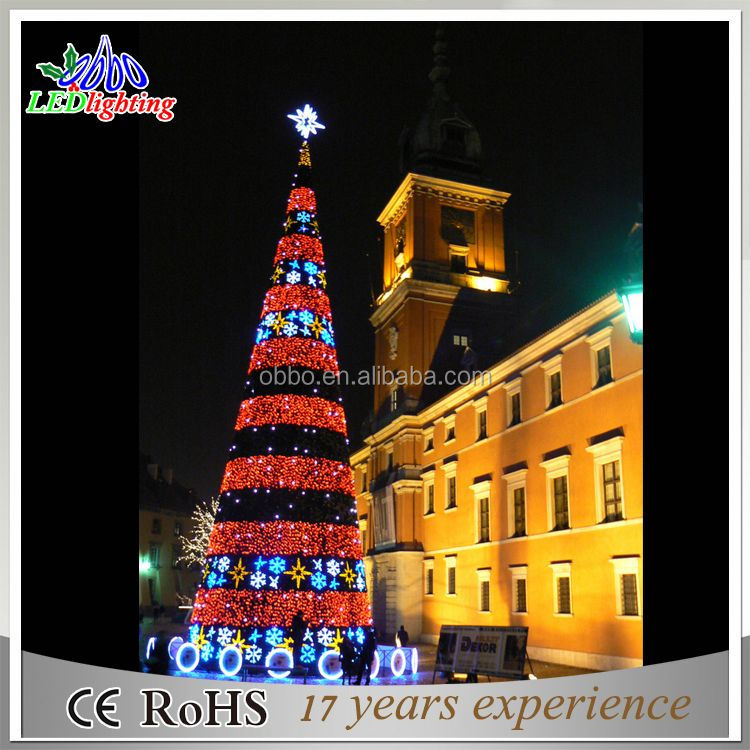 2016 Newly giant christmas led tree upside down christmas tree