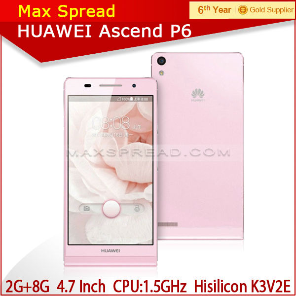 Android 4.2 1.5Ghz quad-core 2GB+8GB samrtphone 4.7 inch screen hua wei p6
