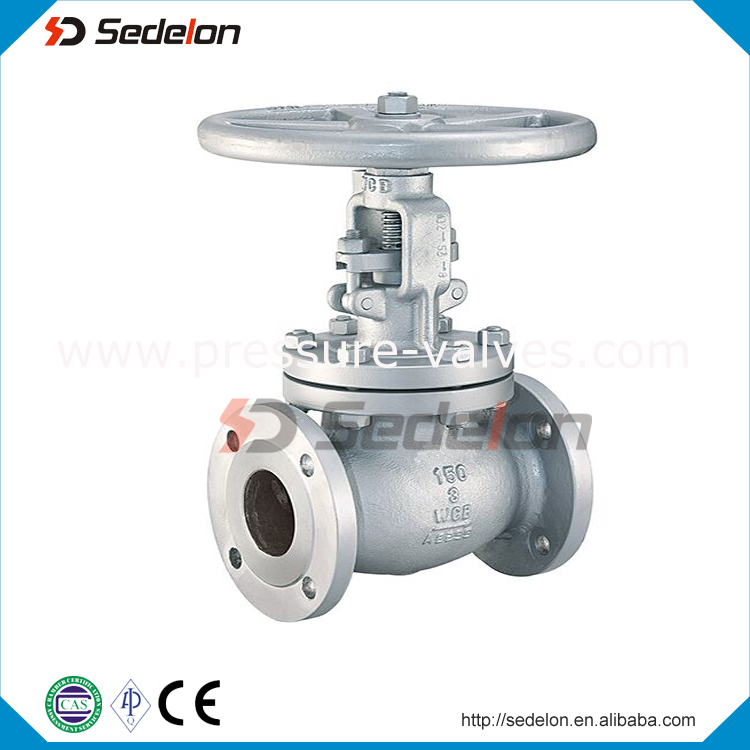 Globe Valve API600 ASTM A216 WCB cast steel Flanged end Globe Valve with Electric Actuator